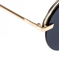 Dior Gold/Black Evolution Aviator Sunglasses