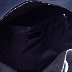 Fendi Navy Blue Nylon and Leather Bugs Backpack