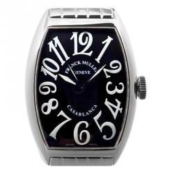d47128711c19e ساعة يد رجالية فرانك مولر كاسابلانكا ستانلس ستيل سوداء 32 مم