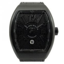c8296a79c8fab ساعة يد رجالية فرانك مولر فانغارد تيتانيوم سوداء 44 مم