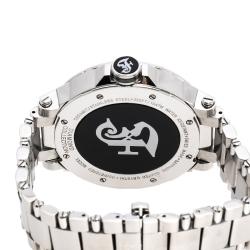 Gianfranco Ferre Black Stainless Steel Diamond Collection Men's Wristwatch 46 mm