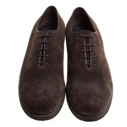Giorgio Armani Brown Suede Oxfords Size 42.5