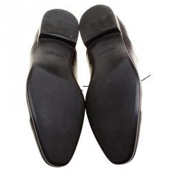 Giorgio Armani Dark Brown Leather Oxfords Size 45