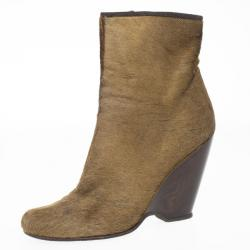 66e2978d29bb Giuseppe Zanotti Brown Pony Hair Ankle Boots Size 38