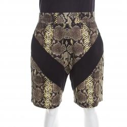 d6d9f187 Givenchy Multicolor Chevron Python Printed Cotton Bermuda Shorts L