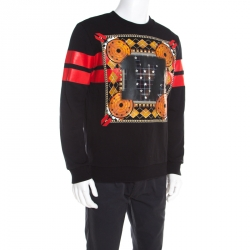 605dedd12a47d Givenchy Black Printed Cotton Long Sleeve Sweatshirt S