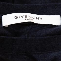 Givenchy Navy Blue Cotton Rottweiler Print Crew Neck T Shirt M