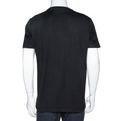 Givenchy Black Cotton Bambi Print Oversized T Shirt XS