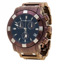 30df0197e Givenchy Brown/Bronze PVD Coated Stainless Steel GV5220J Men's Wristwatch  48 mm