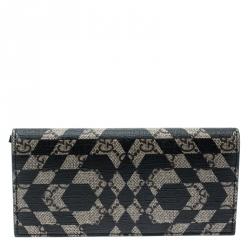 9fc387de683 Gucci Beige Black GG Supreme Canvas Bifold Continental Wallet