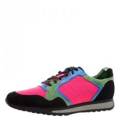 6551e7e9b2f9 Gucci Multicolor Canvas and Suede Icaro Sneakers Size 49