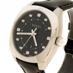 Gucci Black Stainless Steel 142.3 Men's Wristwatch 40 mm