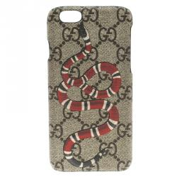 aaa9566144fbf Sold. Gucci Beige GG Supreme Canvas Kingsnake Print iPhone 6 Case