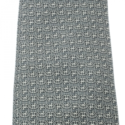 9454121a5b81 Gucci Grey and Off White Interlocked GG Printed Silk Traditional Tie