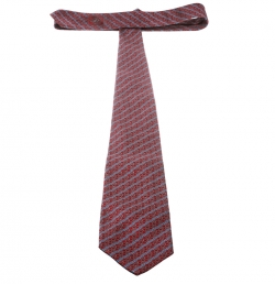 Gucci Red and Blue Striped Horsebit Patterned Jacquard Traditional Tie