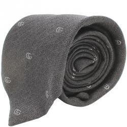 ربطة عنق غوتشي بنقوش GG مجدول أسود