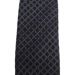 ربطة عنق غوتشي حرير جاكار نمط جي جي كحلية