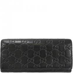 3e3b9c246a2b Gucci Black Guccisima Leather Long Wallet