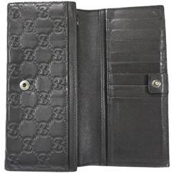 0506ca20407b Gucci Black Guccisima Leather Long Wallet
