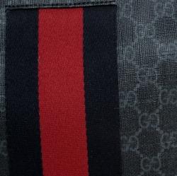 Gucci Black GG Supreme Coated Canvas Web Pouch