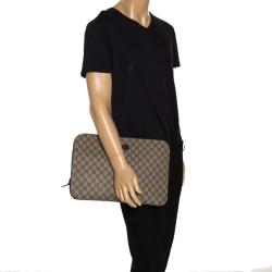 Gucci Beige/Brown GG Supreme Canvas Portfolio