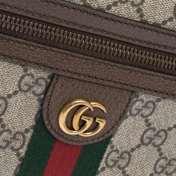 Gucci Beige/Brown GG Canvas and Leather Ophidia Belt Bag