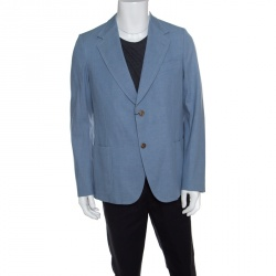 9f8368cfdba Gucci Sky Blue Cotton Tailored Mayfair Blazer XXL