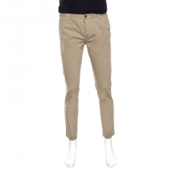 1adfd795ded Gucci Sand Stretch Cotton Short Tapered Chino Trousers S