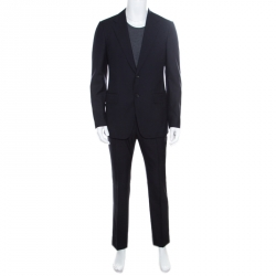 d7c82ba2a0e Gucci Navy Blue Wool Tailored Suit M