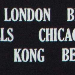 Gucci Black Cotton Logo Cities Print T-Shirt M
