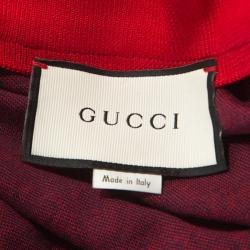 Gucci Navy Blue Monogram Pattern Cotton Contrast Trim Track Jacket M