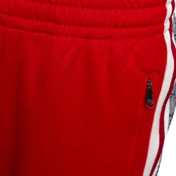 Gucci Red Technical Jersey Contrast Logo Tape Detail Track Pants M