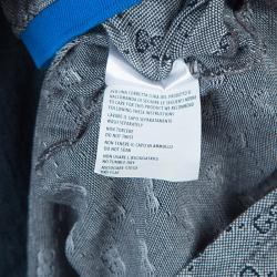 Gucci Grey Contrast Collar GG Polo T-Shirt M