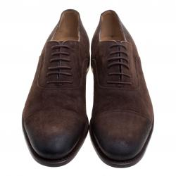 Gucci Brown Suede Lace Up Oxfords Size 42
