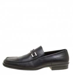 01176d44dac9 Gucci Black Leather Bit Loafers Size 42.5