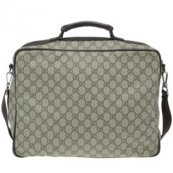 Gucci Brown GG Coated Canvas and Leather Medium Briefcase