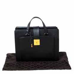 Gucci Black Leather Document Briefcase