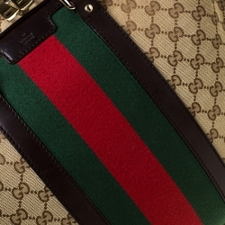 Gucci Beige/Ebony GG Monogram Web Canvas and Leather Briefcase