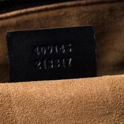 Gucci Black Leather and Canvas Web Slim Briefcase