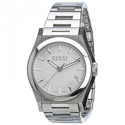 Gucci Silver Stainless Steel Pantheon Men's Wristwatch 35MM