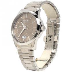 16eeb37608d Gucci Brown Stainless Steel G-Timeless Men s Wristwatch 38MM