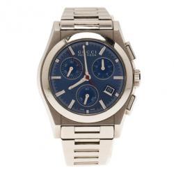 Gucci Blue Stainless Steel Pantheon Men's Wristwatch 35MM