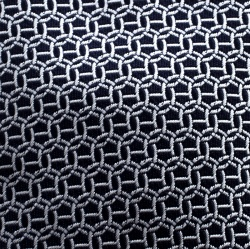 Hermes Navy Blue and White Maille H Silk Jacquard Tie
