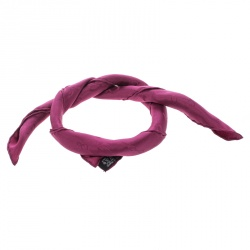 Hermes Magenta Pink Horsebit Pattern Silk Jacquard Pocket Square