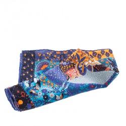 Hermes Pique Fleuri De Provence Printed Silk Pocket Square