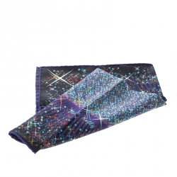 Hermes Multicolor Magic Kelly Printed Silk Pocket Square