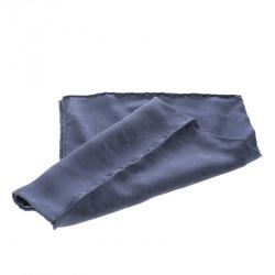 Hermes Blue Grand H Pattern Silk Jacquard Pocket Square