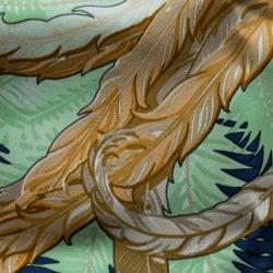 Hermes Multicolor Mythiques Phoenix Printed Silk Pocket Square