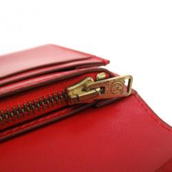 Hermes Red Box Calf Leather Herakles Long Wallet
