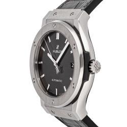Hublot Gray Titanium Classic Fusion 511.NX.7071.LR Men's Wristwatch 45 MM